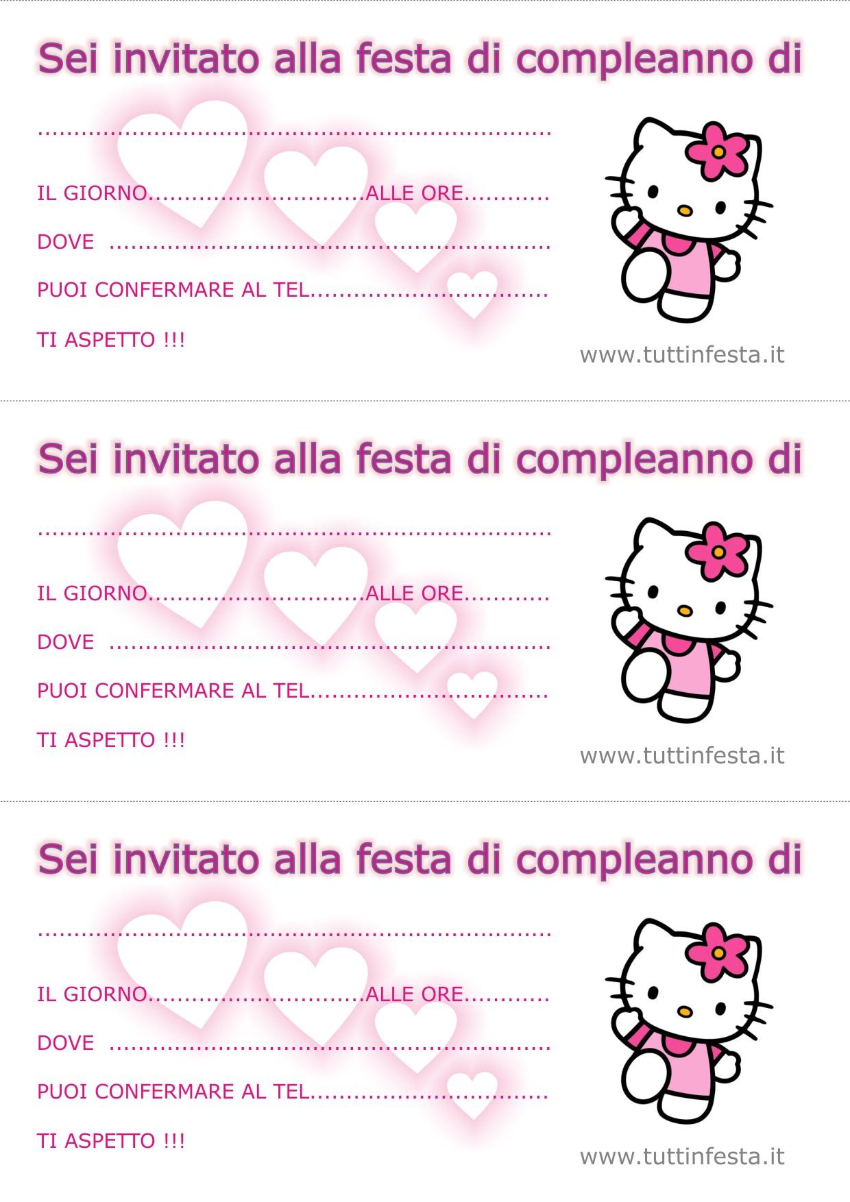 abbastanza Biglietti invito per compleanno gratis EX95
