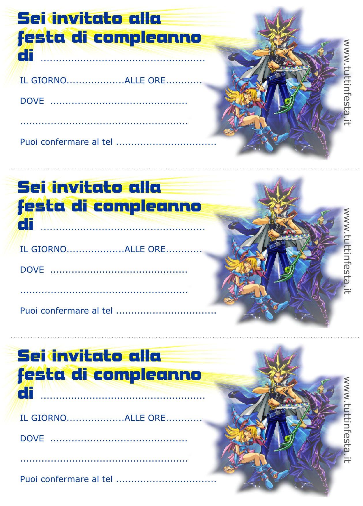 Très Biglietti invito per compleanno gratis YC25